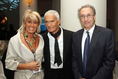 Mª Luisa Sicilia con Vidal Sassoon en Barcelona.